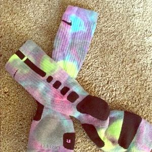 Custom Tie-Dye Nike Elite socks
